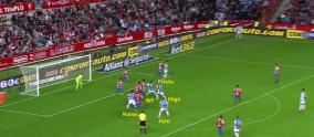 Córner vs Sporting de Gijón